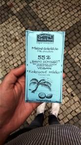 Chocolaterie Willy & Pauli Mléčná VEGAN čokoláda Santo Domingo 55% z kokosového mléka