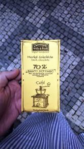 Chocolaterie Willy a Pauli BIO Hořká čokoláda Santo Domingo 70% s mletou kávou
