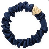 byEloise Gumička Gold Heart Silk Scrunchie Navy