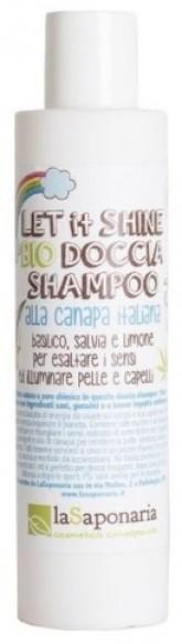 laSaponaria 2v1 Pánský sprchový gel a šampon s konopím BIO (200 ml)