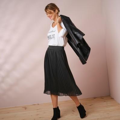 Plisovaná sukně s pružným pasem