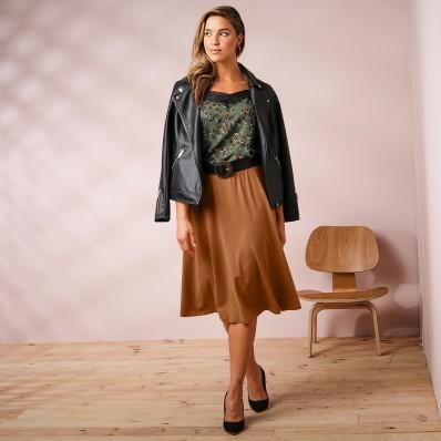 Rozšířená sukně, délka midi