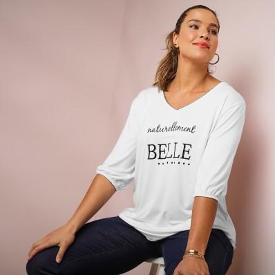 Tričko s nápisem Naturellement belle