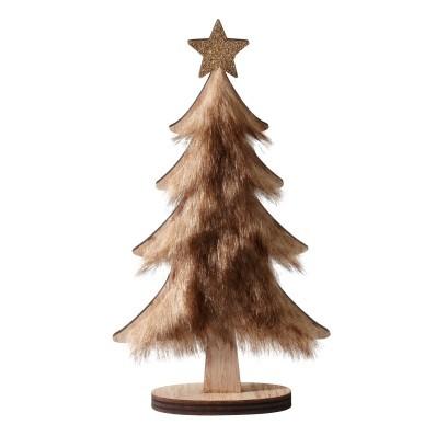 Dekorácia stromček s aspektom kožušiny