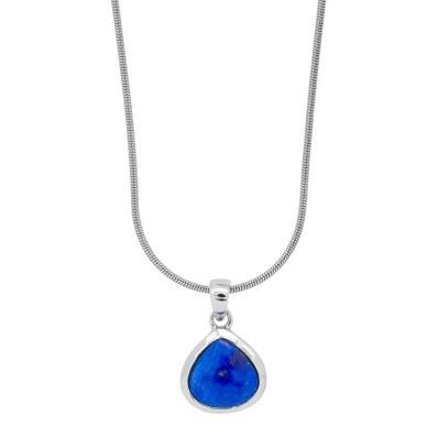 Stříbrný náhrdelník s lapis lazuli