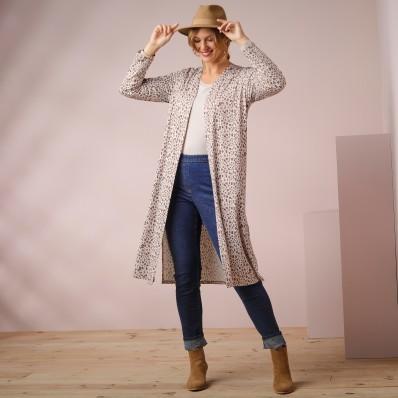 Dlouhý svetr se zvířecím vzorem