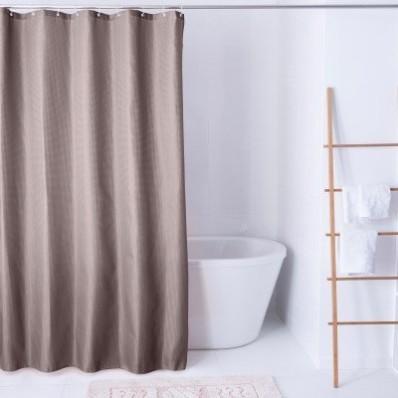 Jednobarevný sprchový závěs