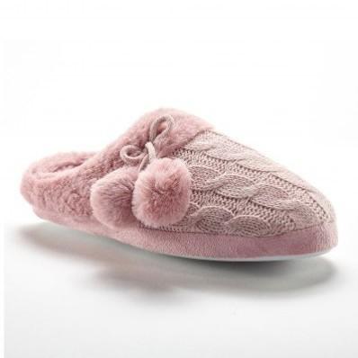 Pletené papuče so strapcami, imitácia kožušiny
