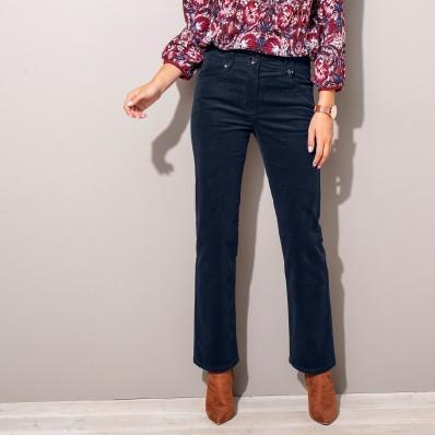 Menčestrové nohavice s gombíkmi