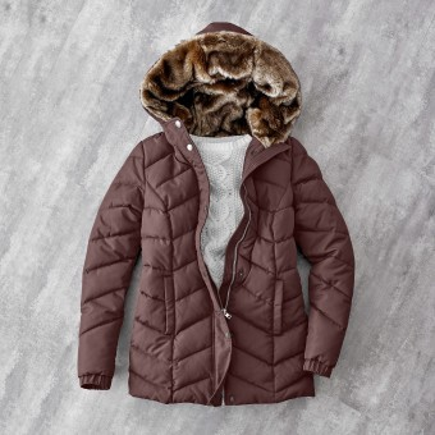 Krátká bunda s kapucí