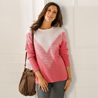 Žakárový originálny pulóver