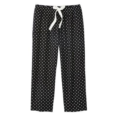 3/4 pyžamové kalhoty s potiskem puntíků Lola