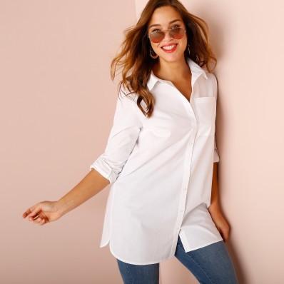 Jednofarebná košeľa