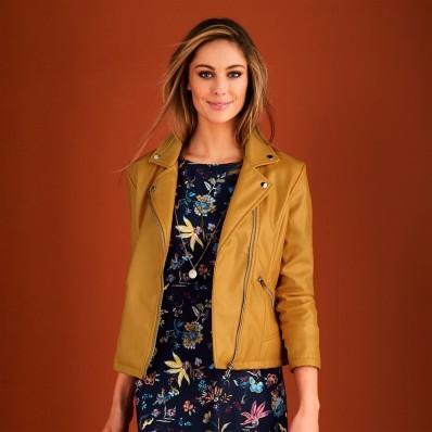 Koženková bunda na zip