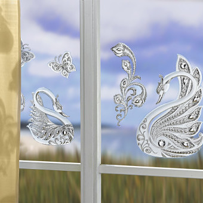 """4-dielny obraz na okno """"Labute"""""""