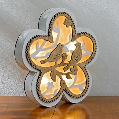 """LED kvetina """"Párik vtáčikov"""""""