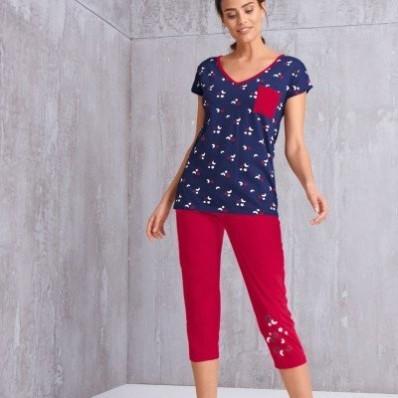 3/4 pyžamové nohavice s motívom hviezdičiek