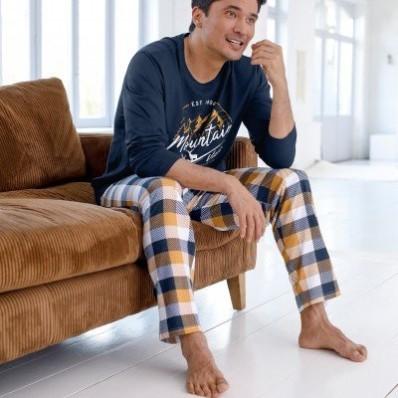 Pyžamové nohavice, vzor kocky