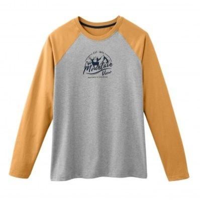 Pyžamové tričko s dlouhými raglánovými rukávy