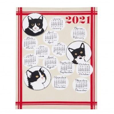 Utierka s potlačou kalendára 2021, súprava 3 ks