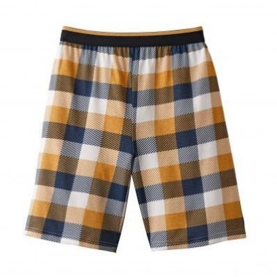 Pyžamové šortky, kockovaný vzor