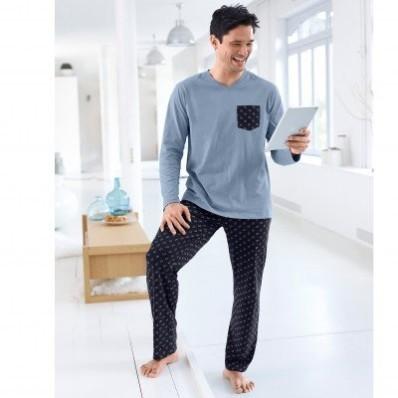 Pyžamo s mikrovzorom, dlhé nohavice