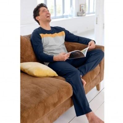 Pyžamové pruhované tričko s dlouhými rukávy