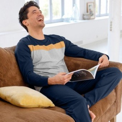 Jednobarevné pyžamové kalhoty