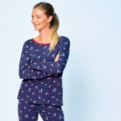 Pyžamové tričko s potlačou a dlhými rukávmi