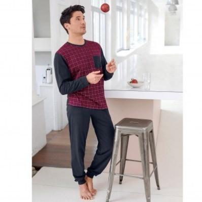 Kostkované pyžamo s kalhotami