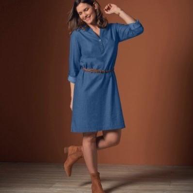 Džínsové rovné šaty