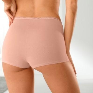 Jednobarevné boxerky, bavlna, sada 3 ks