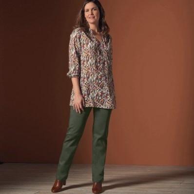Rovné nohavice pre ploché brucho