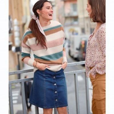 Džínsová sukňa s gombíkmi