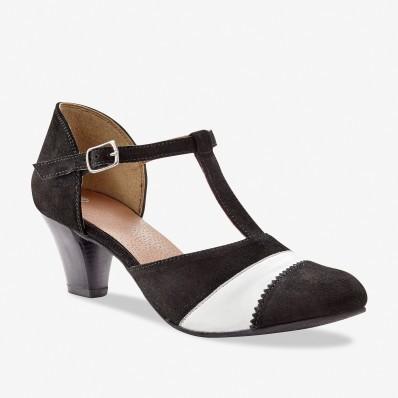Sandále salome, koža
