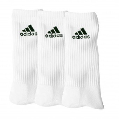 """Biele ponožky """"crew"""" zn. Adidas, súprava 3 párov"""