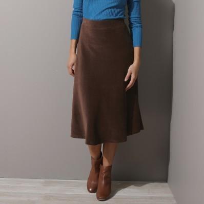 Midi manšestrová sukně do A