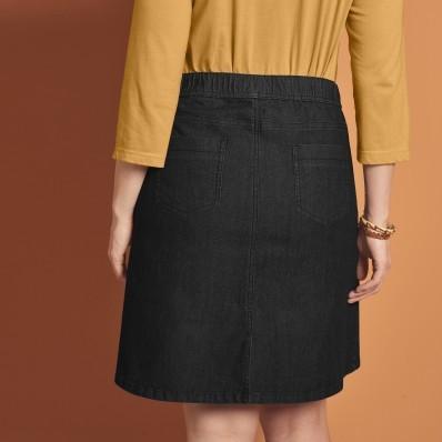 Džínsová sukňa s pružným pásom