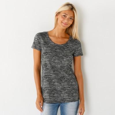 Melírované tričko s krátkymi rukávmi