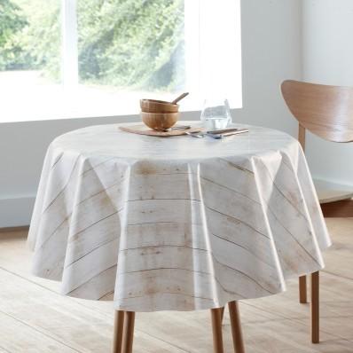 Obrus s potlačou bielené drevo, PVC