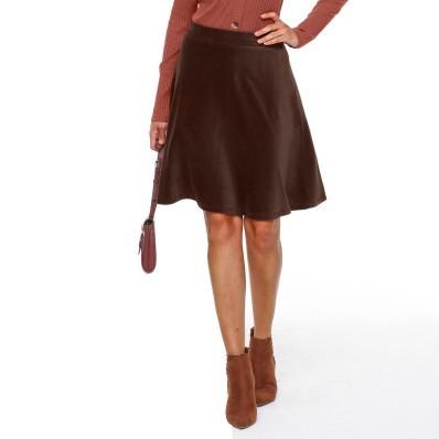 Krátká manšestrová sukně do A