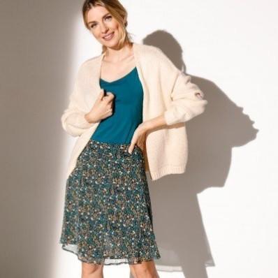 Krátká voálová sukně s potiskem