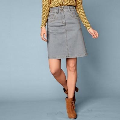 Džínová rozšířená sukně