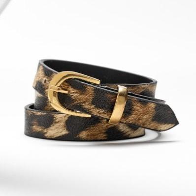 Pružný opasok s leopardím vzorom