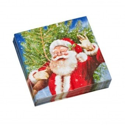 Papierové obrúsky s potlačou Santa Clausa, súprava 20 ks