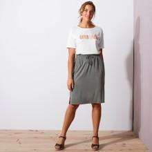 Úpletová krátka sukňa