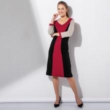 Šaty s opticky zoštíhľujúcim strihom