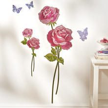"""5-dielna samolepka na stenu """"Ruže"""""""