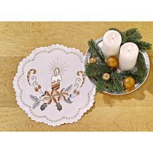 """Vianočný stredový obrus """"Sviečky"""""""