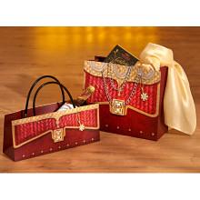 2 darčekové tašky, bordová